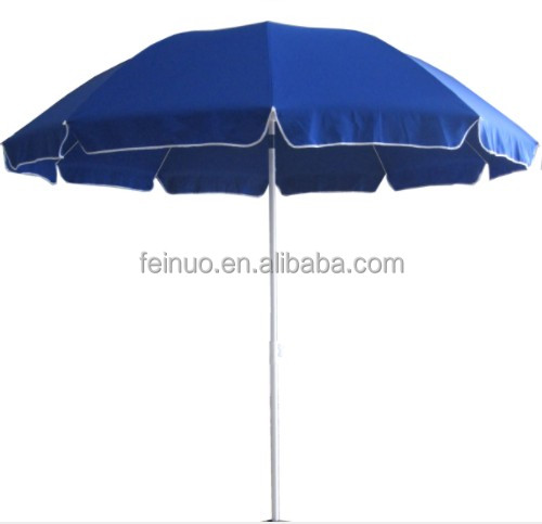 Polyester Fabric Steel Frame Outdoor Beach Umbrella Parasol With UV Protection