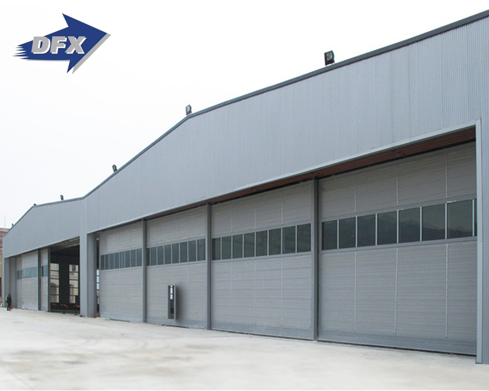 Qingdao large span pre engineered steel structure temporary aircraft hangar with Q355B Q235B construction steel