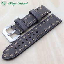 New Products Leather Watch Band With 304L Solid Buckle