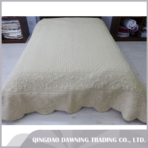 international quality follow the modern fashion white wedding cotton quilt bedspread