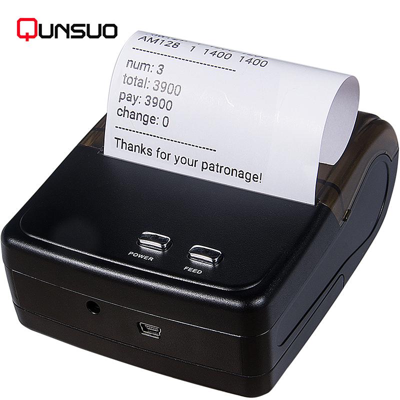 Qunsuo Portable 3inch thermal Bluetooth printer 80mm фото