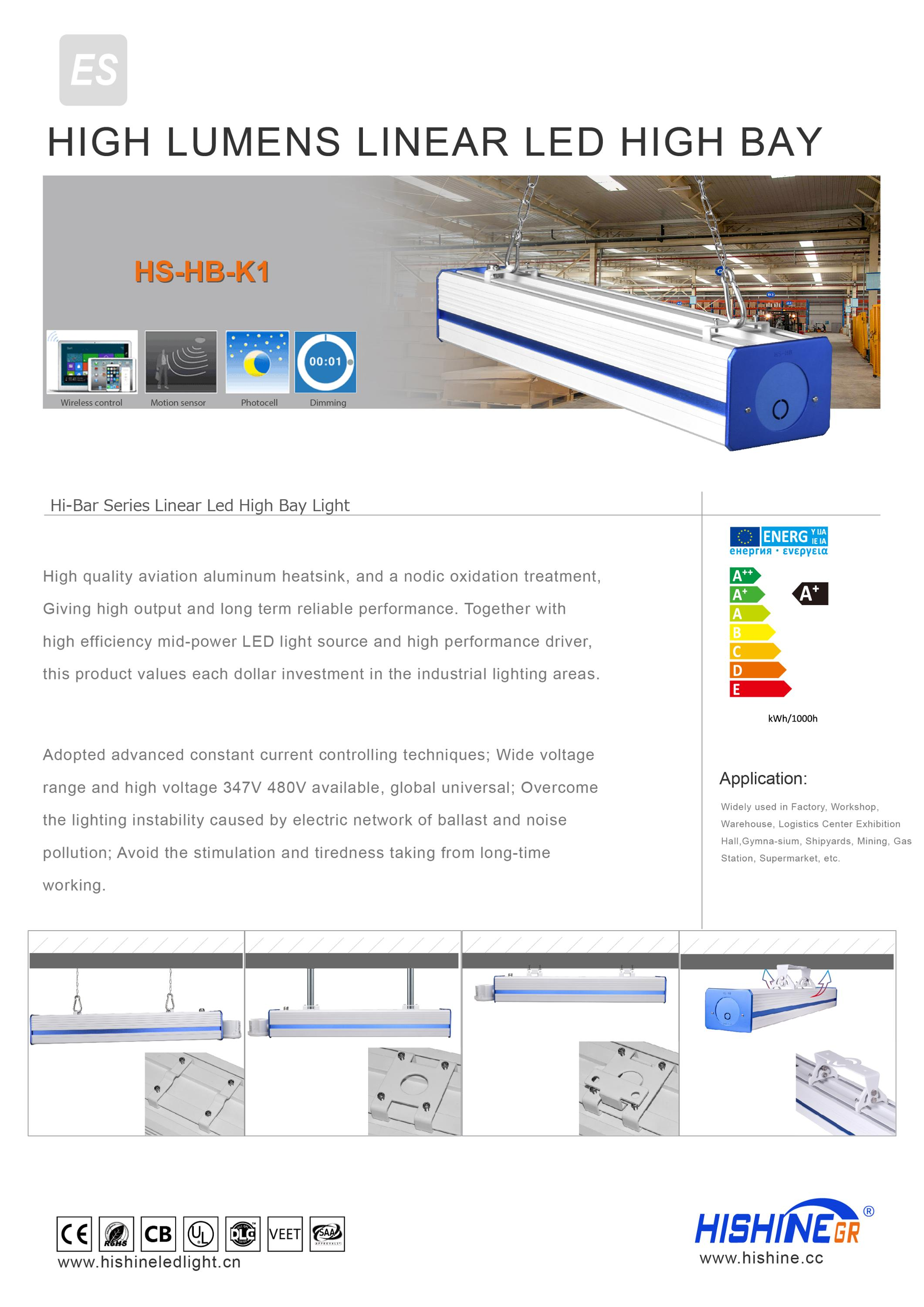 LED Linear Highbay High Bay Light 200w 250w LED Linear High Bay Light DLC UL SAA Listed