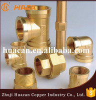 China suppliers brass pipe fitting reducing adapter npt female x npt male