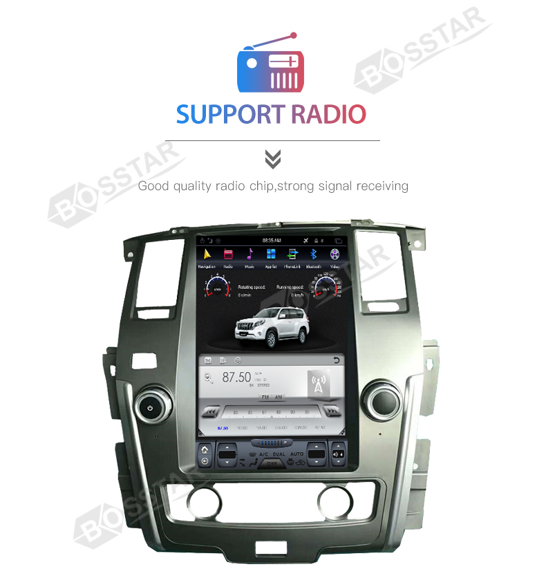 13.6 inch tesla style Car radio DVD Player for nissan PATROL 2009-2016 with Android 7.1 gps and wifi