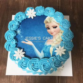 Birthday Cake Photos Elsaanna Cake Topper Edible Wafer Paper Cake