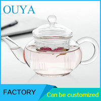 Wholesale Hand Made Borosilicate Heat Resistant Glass Teapot