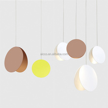 Nordic Metal Round Shape Moon Decorative Fancy Pendant Light, Modern Hanging Lighting Lamp