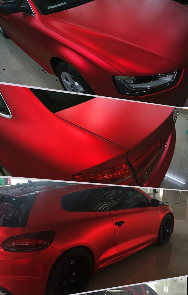 Removable Pvc Self Adhesive Pearl Metallic Chrome Matte Vinyl Car