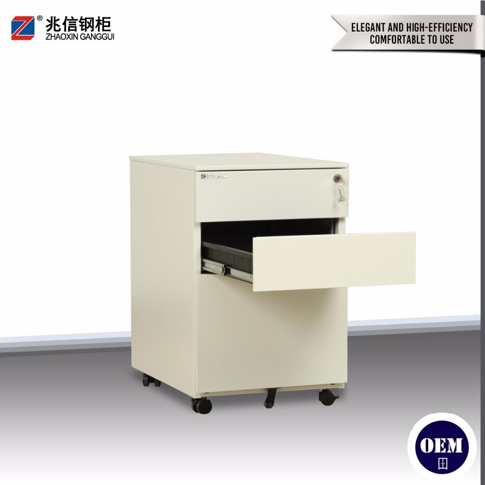 Movable Steel Office Furniture 2 3 Drawer Under Desk Drawer Cabinet