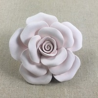 Decorative handmade mini ceramic flower for Jewelry Box Decor