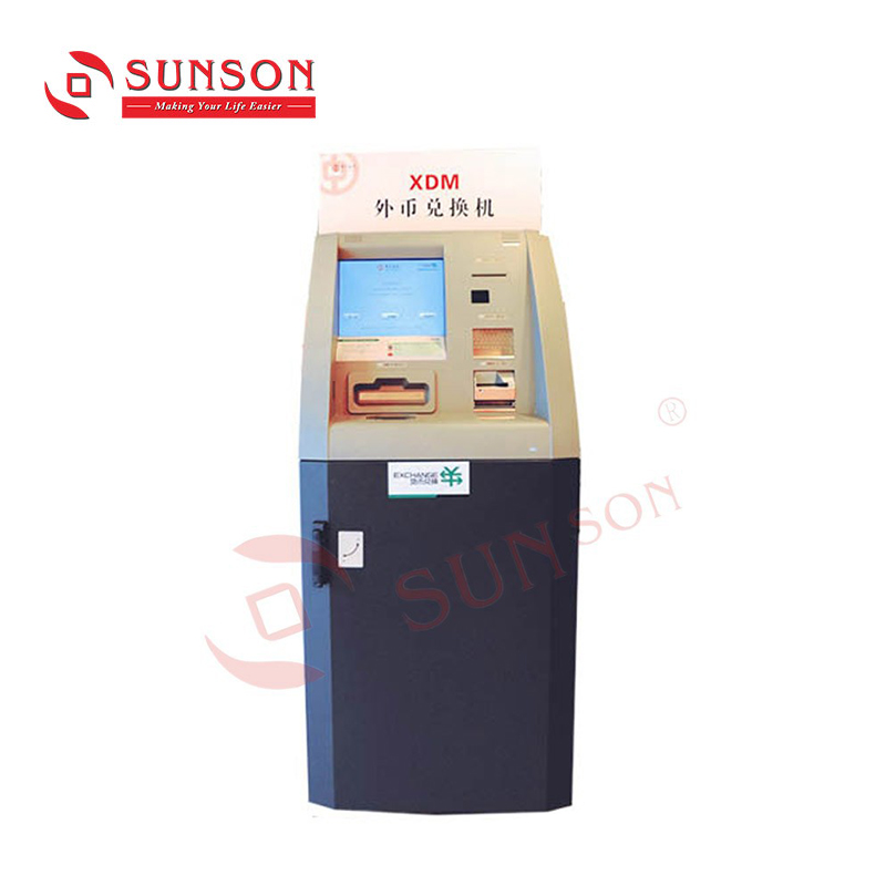 Self Service Buitenlandse Valuta Uitwisseling Machine Met Bill Acceptor/Bill Dispenser