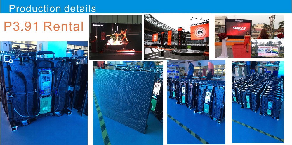 rental stage P 3.91 indoor led display