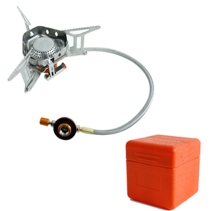 Camping Outdoor Burn Gas Stove with wind shield