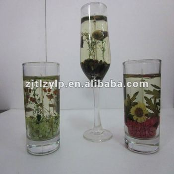 2012 china home decoration candle gel wax glass shape for Decoration wax