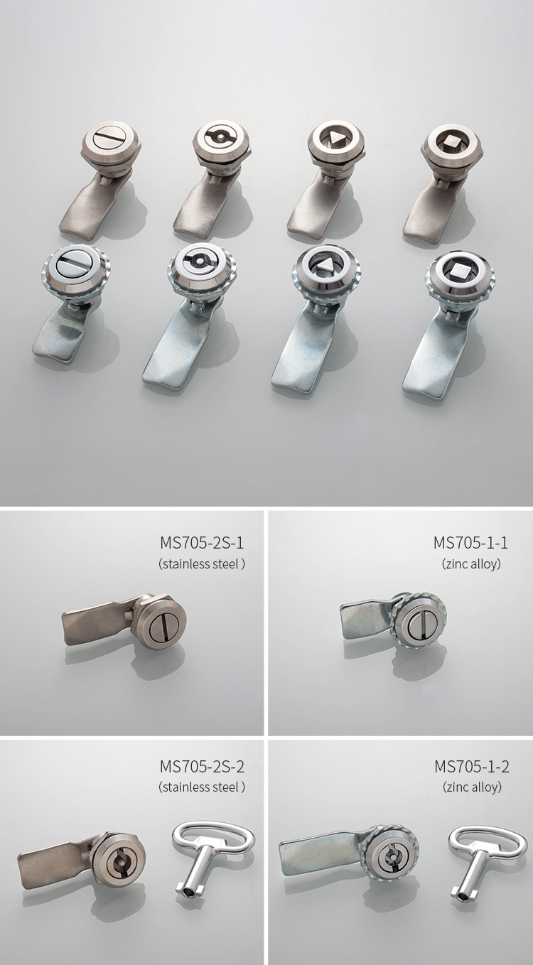Hengzhu ms705 high quality distribution box lock cabinet cam lock