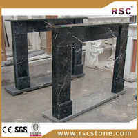 Nero marquina marble fireplace prices surround