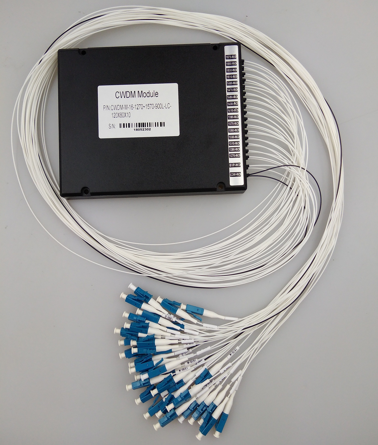 16 channel cwdm fiber mux demux with LC connector