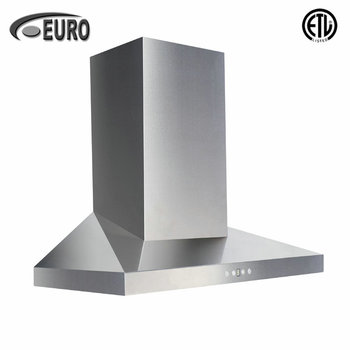 "30"" powerful stainless steel kitchen chimney hood fans range hood manufacturers"