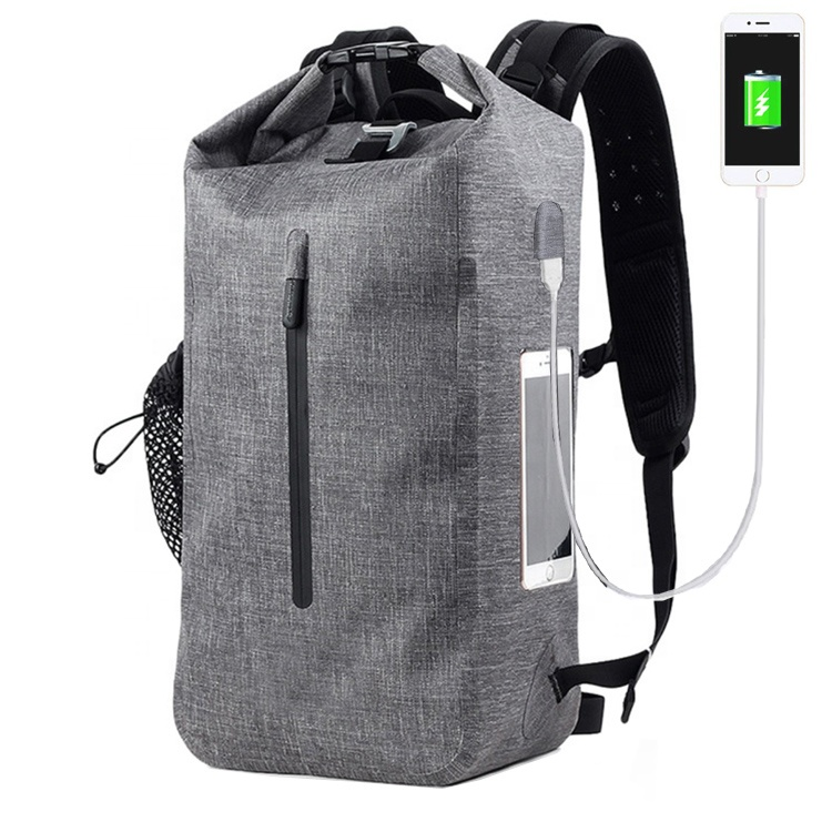 Alibaba.com / Clear Pvc Side Layer Padded Computer Compartment  Anti Theft  Roll Top 30L TPU Backpack With USB Charging For Laptop
