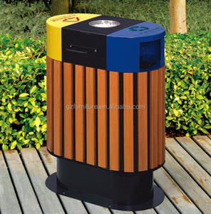 Creation Golden Cheap wood outdoor garbage bins large trash park district Fruit Housing Box