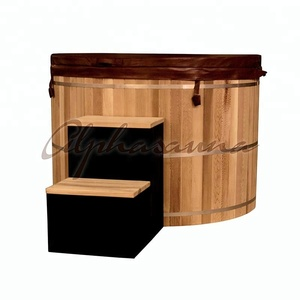 Can be customized Large Capacity Easy installation electrical wooden hot tub