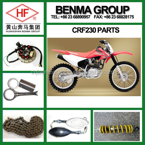 High quality CRF230 spare parts brake pad carburetor clutch kit, universal part for dirtbike, Motorcycle repair kits