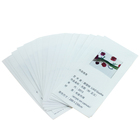 Printed 100% Polyester Fabric Washing Care Labels for Shoes/Washing Instruction