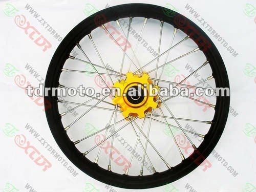 "Aluminum rims 14""/12"" CNC hub for motorcycle"