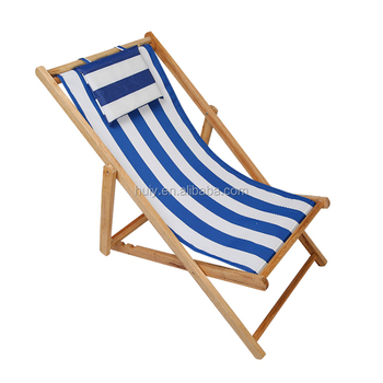 Lightweight Wooden Bali Beach Chair Outdoor Deck For