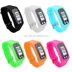 Hot selling silicone fitness smart wristband pedometers cheap 2D pedometer watch