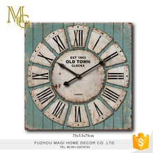 High quality aged antique vintage interior decoration wood wall clock