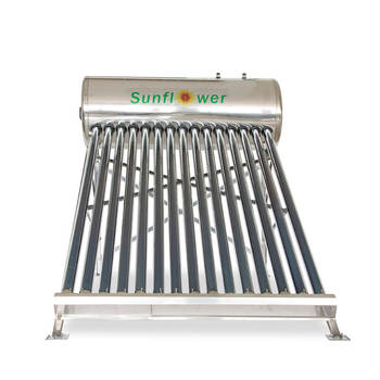 150L Best selling high efficiency vacuum glass tube compact thermosyphon solar water heater