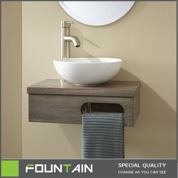 Wall Mount Vessel Vanity Modern Gl And Ceramic Bathroom Wash Hand Basin With Towel Rack
