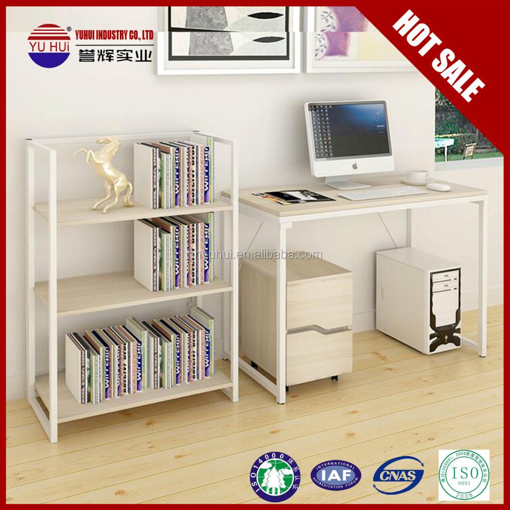 Pliable biblioth que avec rabattre bureau petite blanc for Bureau angle avec etagere