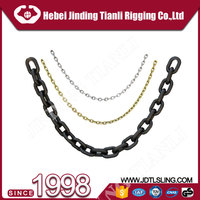 lashing chain with hook blackened link chain grade 80 link