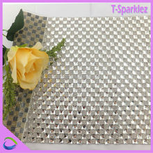 Bling Bling Crystal Mesh Tissu Strass Shinning cristal maille rouleau Feuille de Strass pour chaussures et sacs