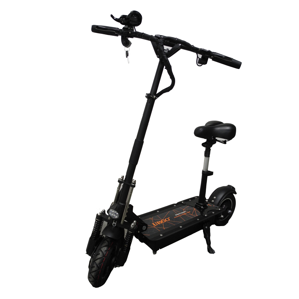 UBGO 1005 52V Double Drive 2000W motor powerful electric scooter 10inch E-Scooter With Oil Brake, Black