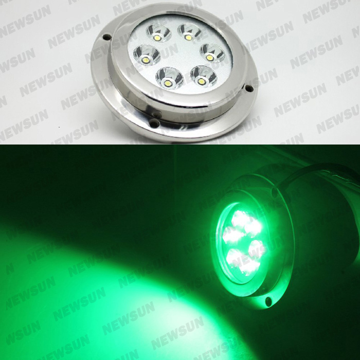 316 Stainless Steel 6X3W 18W LED Marine Underwater Lights