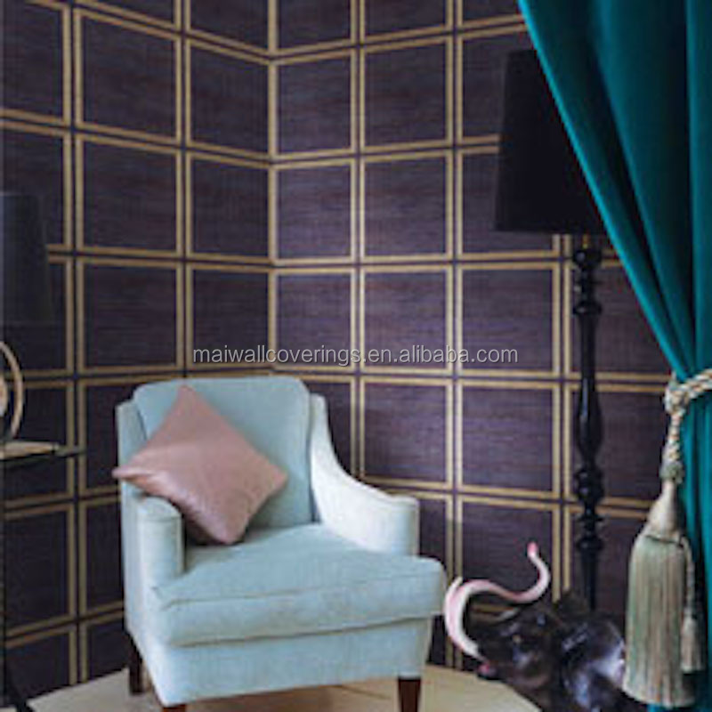 Navy Blue Glitter Wallpaper Classical Style Geometric Wallcovering Special Restaurant Wall Paper Design Made In Zhejiang