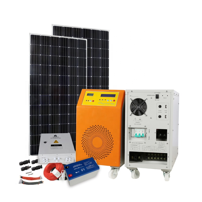1KW 3KW 5KW Off-Grid Solar Power System/Home Solarpanel-kit 3000 Watt 5000 Watt 10KW Sonne batterie