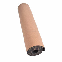 eco-friendly natural rubber cork yoga mat good quality natural rubber cork yoga mat