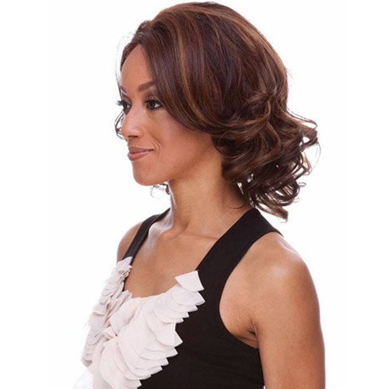 Buy Fashion 16quot Short Curly Hair Wig African American Synthetic