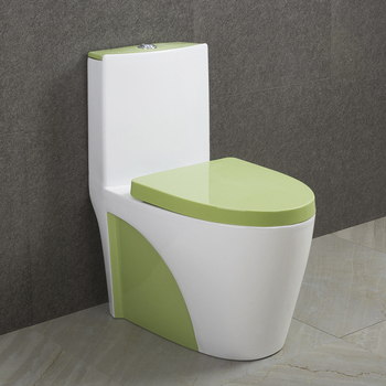 9168 Green color ceramic toilet colored toilets from alibaba china