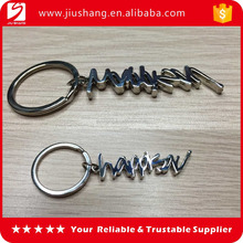 Customized design zinc alloy metal name keychain wholesale