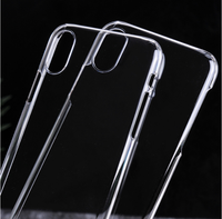 2017 New Clear Transparent Mobile Back Cover Case Plastic Phone Case for iPhone 8