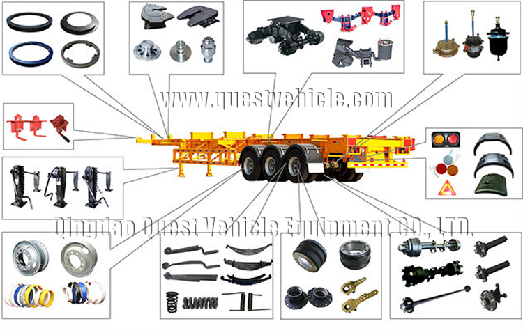 truck trailer spare parts container twist lock flatbed semi trailer twist lock