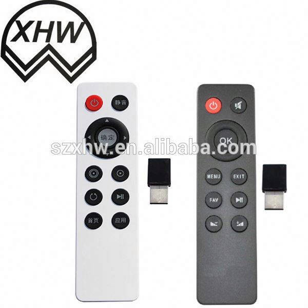 Black wireless 42 Keys universal remote control with whole PVC cover Cable Service India market Meide factory Tianchang China