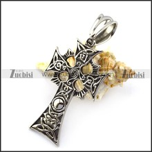Shiny jewelry 925 sterling silver fashion jewelry cross shaped stainless steel pendant