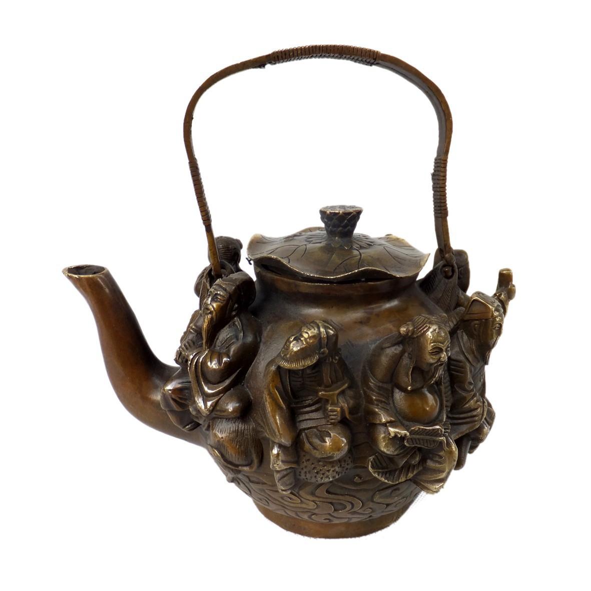 China-excellent-antique-metal-crafts-pure-brass-teapot