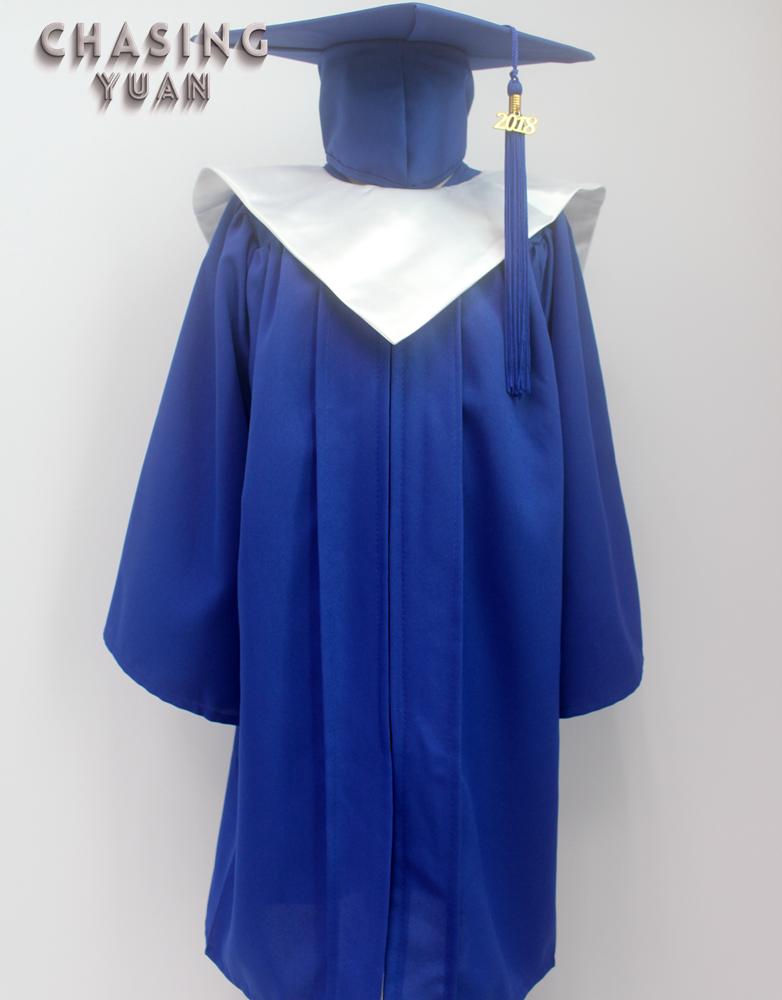 Kindergarten Royal Blue Graduation Gown Cap& V-stole - Buy ...